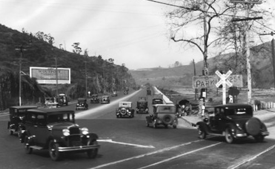 1922 Entry into the Cahuenga Pass