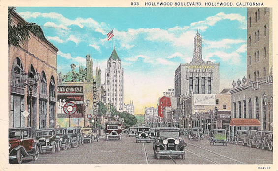 1920s Hollywood Boulevard looking east