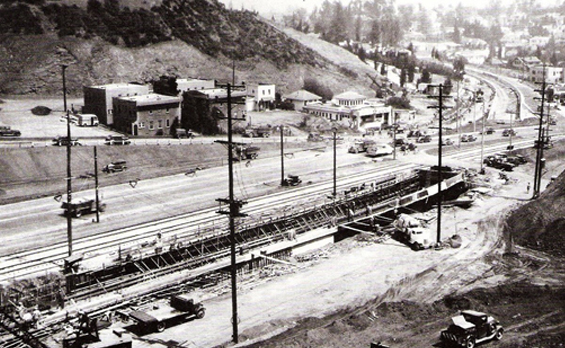 1938 widening of the Cahuenga Pass