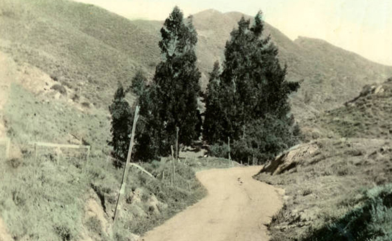 1909 Cahuenga Pass looking toward Hollywood